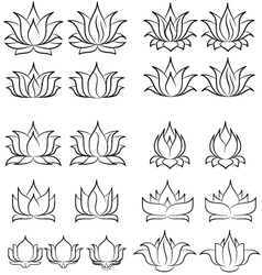 Lotus set 2 vector