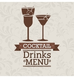 Fresh cocktail design vector