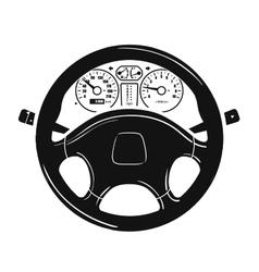 Car steering wheel logo design template vector
