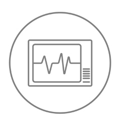 Heart monitor line icon vector
