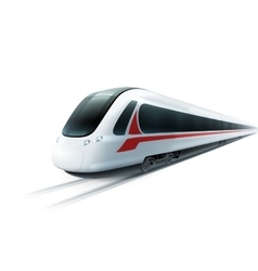 High-speed train realistic isolated image vector
