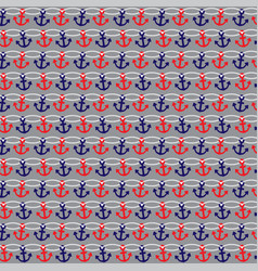 anchor rope stripe on gray vector image vector image