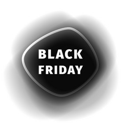 black friday smoothed black banner vector image