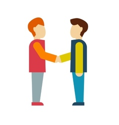 Business shaking hand vector