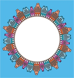 city round frame vector image