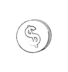 Coin money isolated vector