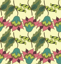 Colorful summer hand drawn floral seamless pattern vector image vector image