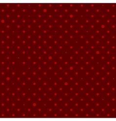 Crimson Red Star Polka Dots Background vector image