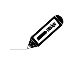 design pencil black vector image