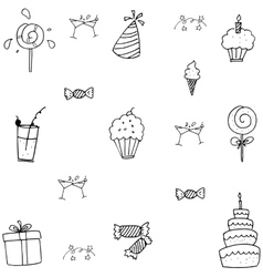 Doodle birthday party art vector