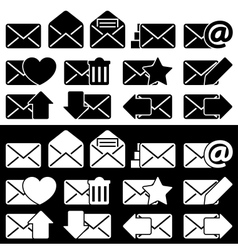 Envelopes for Email Set vector image vector image