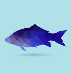 fish polygon silhouette vector image
