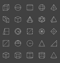 geometric shapes icons vector image