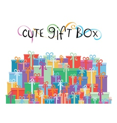 Gift boxes for your promotion design vector image