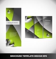Green metal sphere brochure layout vector