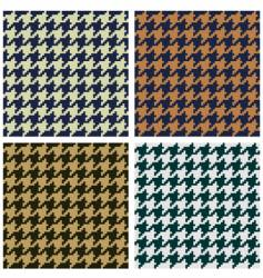 hounds tooth seamless fabric pattern vector image vector image