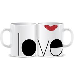 I love you mug vector image vector image