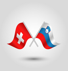 Icon of switzerland and slovenia vector