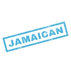 Jamaican rubber stamp vector