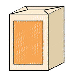juice carton box icon vector image