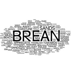 Landscapes of england brean text background word vector