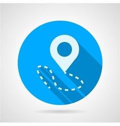 Navigation marker flat icon vector image