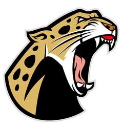 Roaring leopard vector