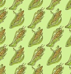 Seamless corn pattern vector