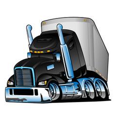 semi truck with trailer cartoon vector image