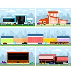 Stores and malls vector image vector image