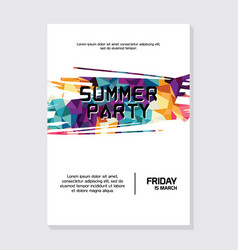 Summer night beach party poster flyer template vector