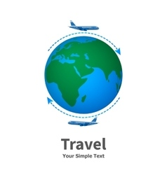 the concept of travel vector image vector image