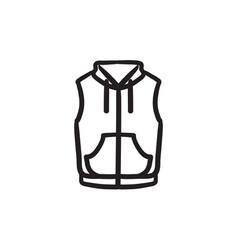 Vest down jacket sketch icon vector
