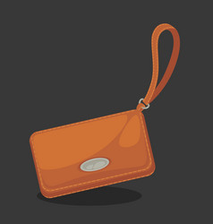 Wallets with money shopping purse cas vector