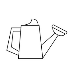 watering can garden tool thin line vector image
