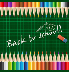 welcome back to school background or card with vector image vector image