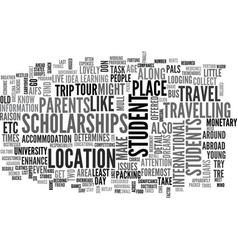 What you need to know about students travel text vector
