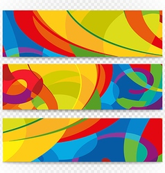 Abstract colorful banners on transparent Modern vector image