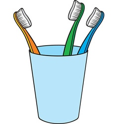 Toilet Brushes in a Holder vector image