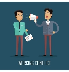 Working conflict concept vector