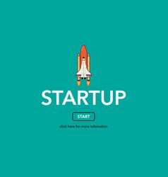 Start up business web concept vector