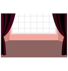 Curtain window interior vector