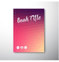 Modern abstract brochure book flyer design vector
