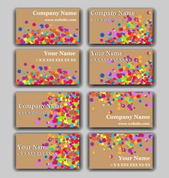 Set of business card with irregular circles vector