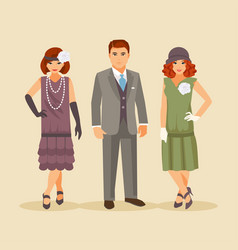 Fashion of the 1920s vector