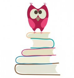book and owl vector image
