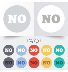 Norwegian language sign icon no translation vector