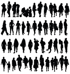 People black color silhouette vector