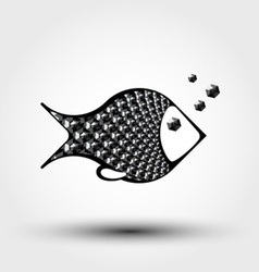 fish abstract pattern vector image
