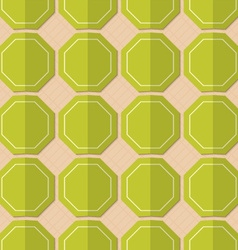 Retro fold green octagons vector